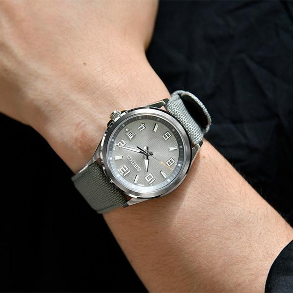 セイコー セレクション master-piece マスターピース 監修 流通限定モデル SBTM311 メンズ腕時計 ソーラー電波 ギョーシェ模様 グレーナイロン|theclockhouse-y|06