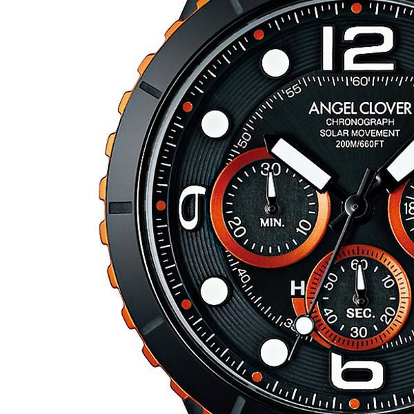 エンジェルクローバー タイムクラフトダイバー TCD45BK-BK メンズ 腕時計 ソーラー 革ベルト クロノグラフ ブラック theclockhouse-y 04