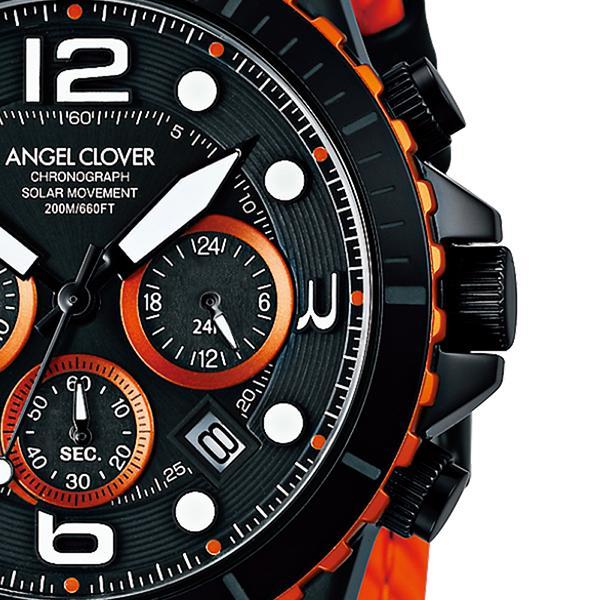 エンジェルクローバー タイムクラフトダイバー TCD45BK-BK メンズ 腕時計 ソーラー 革ベルト クロノグラフ ブラック theclockhouse-y 05
