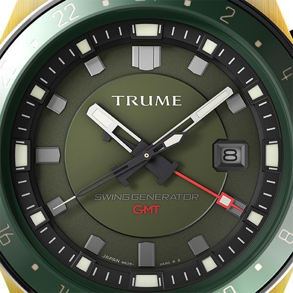 TRUME トゥルーム Lコレクション ブレークライン TR-ME2001 メンズ 腕時計 自動巻発電 GMT セラミックベゼル ナイロンバンド グリーン theclockhouse-y 03