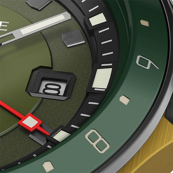 TRUME トゥルーム Lコレクション ブレークライン TR-ME2001 メンズ 腕時計 自動巻発電 GMT セラミックベゼル ナイロンバンド グリーン theclockhouse-y 04