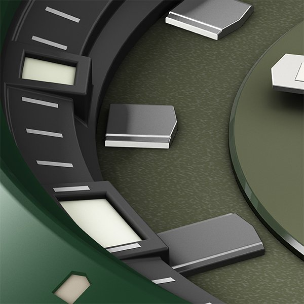 TRUME トゥルーム Lコレクション ブレークライン TR-ME2001 メンズ 腕時計 自動巻発電 GMT セラミックベゼル ナイロンバンド グリーン theclockhouse-y 06