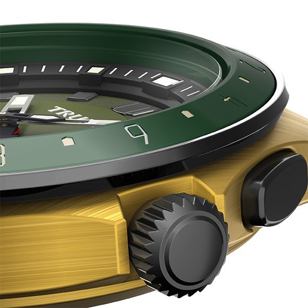 TRUME トゥルーム Lコレクション ブレークライン TR-ME2001 メンズ 腕時計 自動巻発電 GMT セラミックベゼル ナイロンバンド グリーン theclockhouse-y 07
