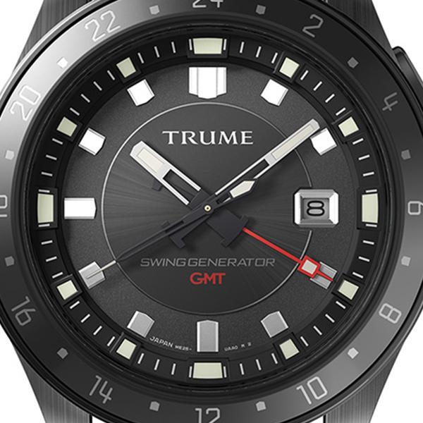 TRUME トゥルーム Lコレクション ブレークライン TR-ME2002 メンズ 腕時計 自動巻発電 GMT セラミックベゼル ナイロンバンド ブラック|theclockhouse-y|03