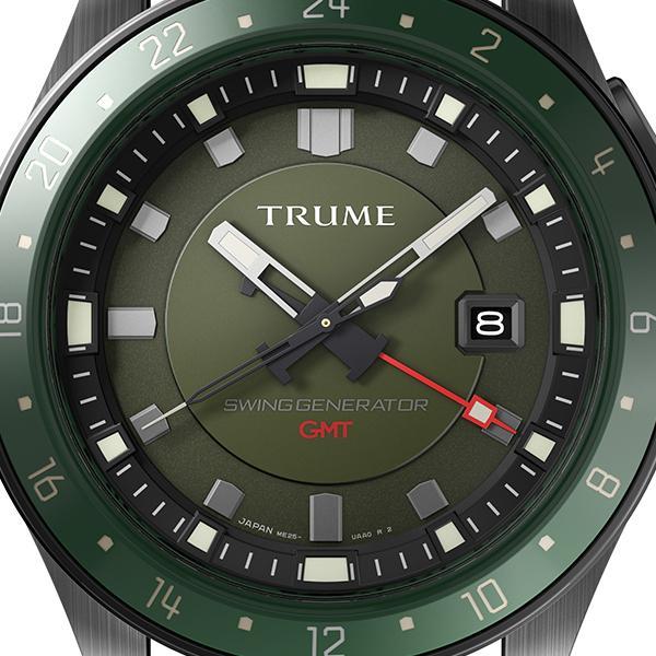 TRUME トゥルーム Lコレクション ブレークライン TR-ME2003 メンズ 腕時計 自動巻発電 GMT セラミックベゼル ナイロンバンド グリーン|theclockhouse-y|03