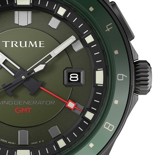 TRUME トゥルーム Lコレクション ブレークライン TR-ME2003 メンズ 腕時計 自動巻発電 GMT セラミックベゼル ナイロンバンド グリーン|theclockhouse-y|05