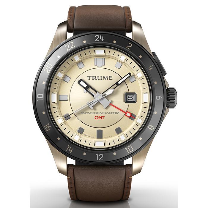 TRUME トゥルーム Lコレクション ブレークライン TR-ME2004 メンズ 腕時計 自動巻発電 GMT セラミックベゼル レザーバンド ブラウン|theclockhouse-y|02