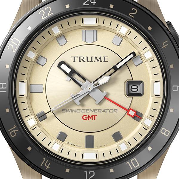 TRUME トゥルーム Lコレクション ブレークライン TR-ME2004 メンズ 腕時計 自動巻発電 GMT セラミックベゼル レザーバンド ブラウン|theclockhouse-y|03
