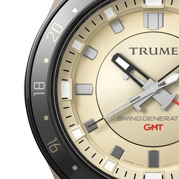 TRUME トゥルーム Lコレクション ブレークライン TR-ME2004 メンズ 腕時計 自動巻発電 GMT セラミックベゼル レザーバンド ブラウン|theclockhouse-y|04