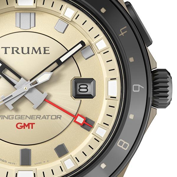 TRUME トゥルーム Lコレクション ブレークライン TR-ME2004 メンズ 腕時計 自動巻発電 GMT セラミックベゼル レザーバンド ブラウン|theclockhouse-y|05