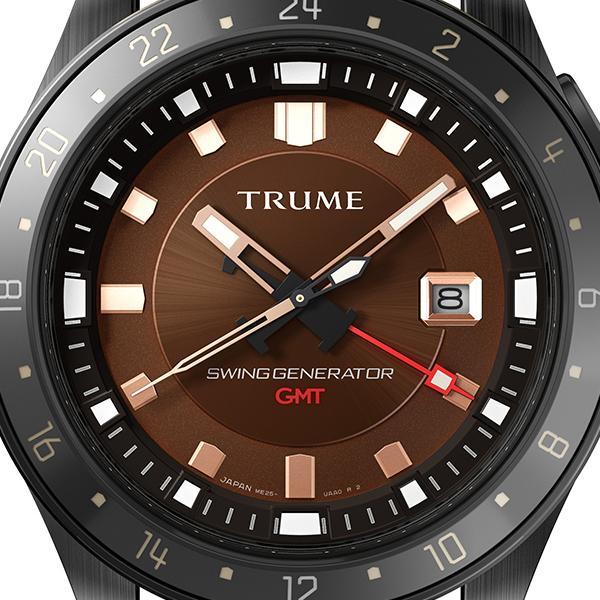 TRUME トゥルーム Lコレクション ブレークライン TR-ME2005 メンズ 腕時計 自動巻発電 GMT セラミックベゼル レザーバンド ブラウン エプソン|theclockhouse-y|03