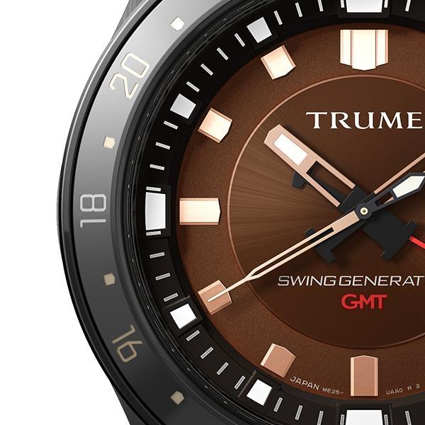 TRUME トゥルーム Lコレクション ブレークライン TR-ME2005 メンズ 腕時計 自動巻発電 GMT セラミックベゼル レザーバンド ブラウン エプソン|theclockhouse-y|04