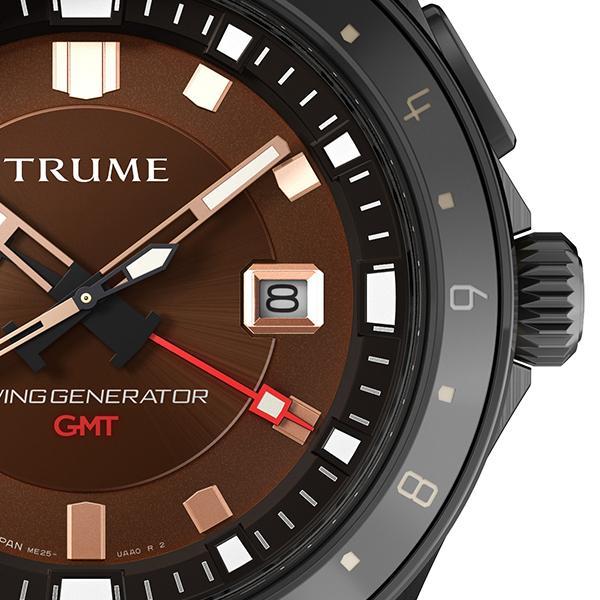 TRUME トゥルーム Lコレクション ブレークライン TR-ME2005 メンズ 腕時計 自動巻発電 GMT セラミックベゼル レザーバンド ブラウン エプソン|theclockhouse-y|05