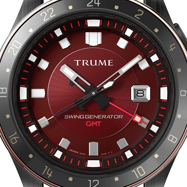 TRUME トゥルーム Lコレクション ブレークライン 販売店限定モデル TR-ME2006 メンズ 腕時計 自動巻発電 GMT セラミック レザー レッド theclockhouse-y 03