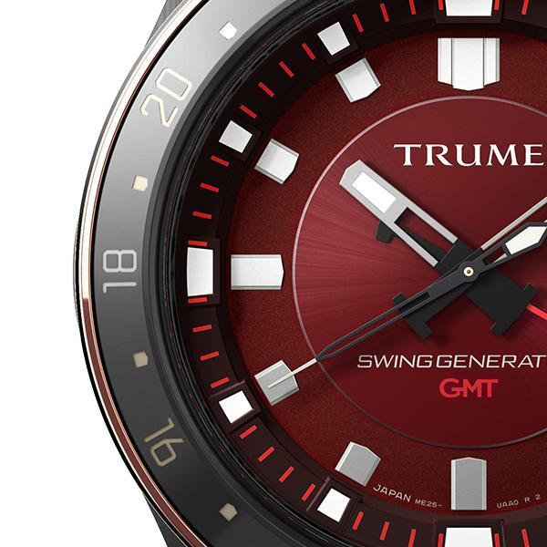 TRUME トゥルーム Lコレクション ブレークライン 販売店限定モデル TR-ME2006 メンズ 腕時計 自動巻発電 GMT セラミック レザー レッド theclockhouse-y 04