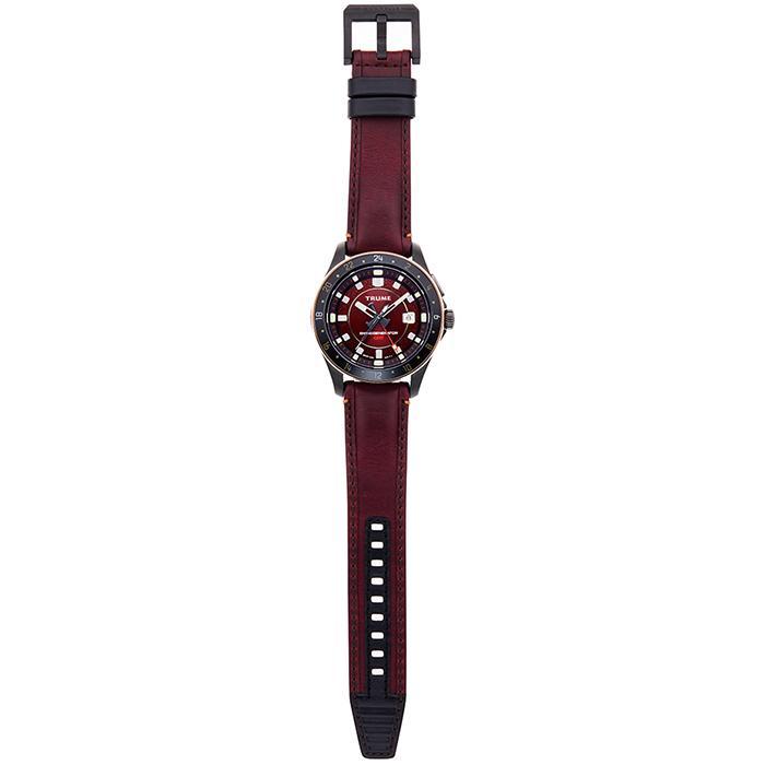 TRUME トゥルーム Lコレクション ブレークライン 販売店限定モデル TR-ME2006 メンズ 腕時計 自動巻発電 GMT セラミック レザー レッド theclockhouse-y 06