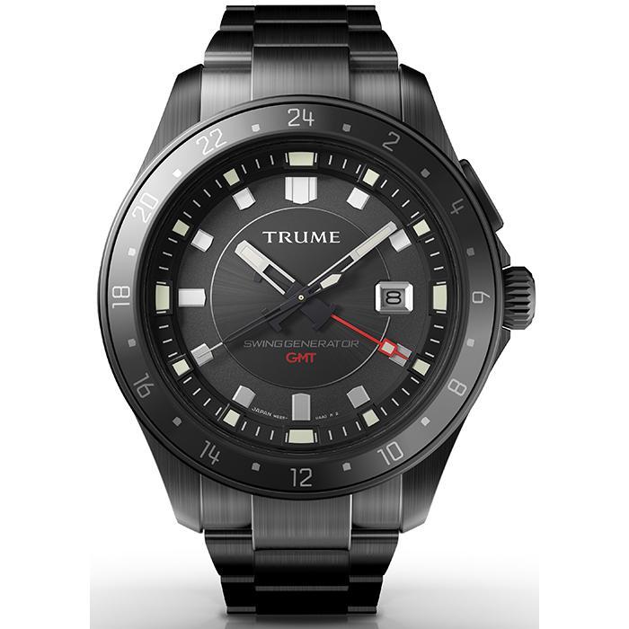 TRUME トゥルーム Lコレクション ブレークライン TR-ME2008 メンズ 腕時計 自動巻発電 GMT セラミックベゼル メタルバンド ブラック エプソン theclockhouse-y 02
