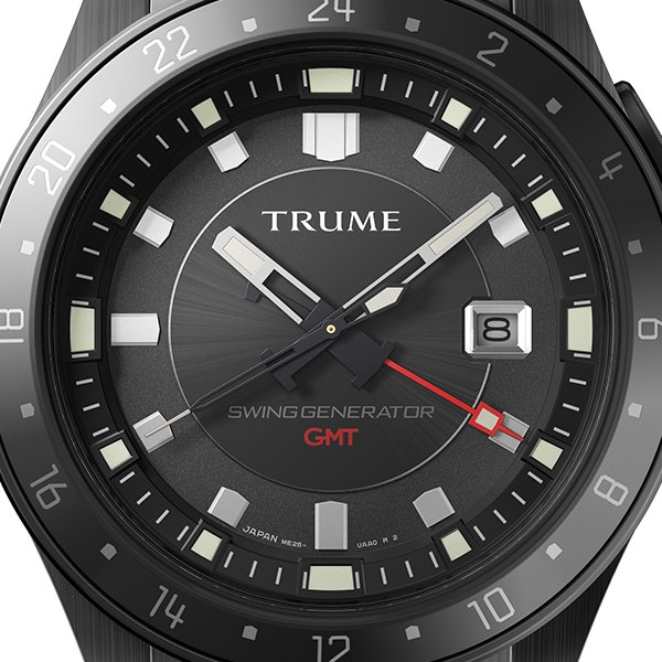 TRUME トゥルーム Lコレクション ブレークライン TR-ME2008 メンズ 腕時計 自動巻発電 GMT セラミックベゼル メタルバンド ブラック エプソン theclockhouse-y 03