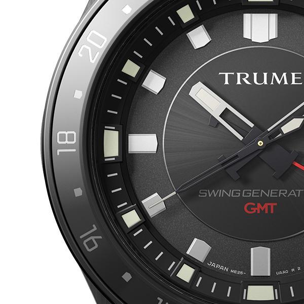 TRUME トゥルーム Lコレクション ブレークライン TR-ME2008 メンズ 腕時計 自動巻発電 GMT セラミックベゼル メタルバンド ブラック エプソン theclockhouse-y 04