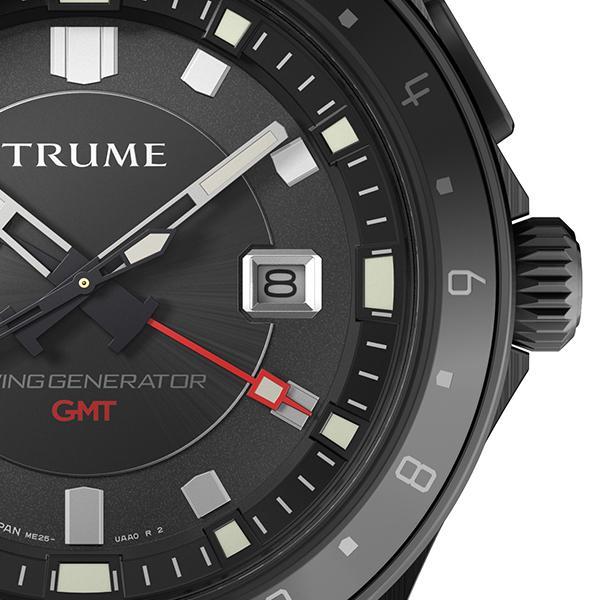 TRUME トゥルーム Lコレクション ブレークライン TR-ME2008 メンズ 腕時計 自動巻発電 GMT セラミックベゼル メタルバンド ブラック エプソン theclockhouse-y 05