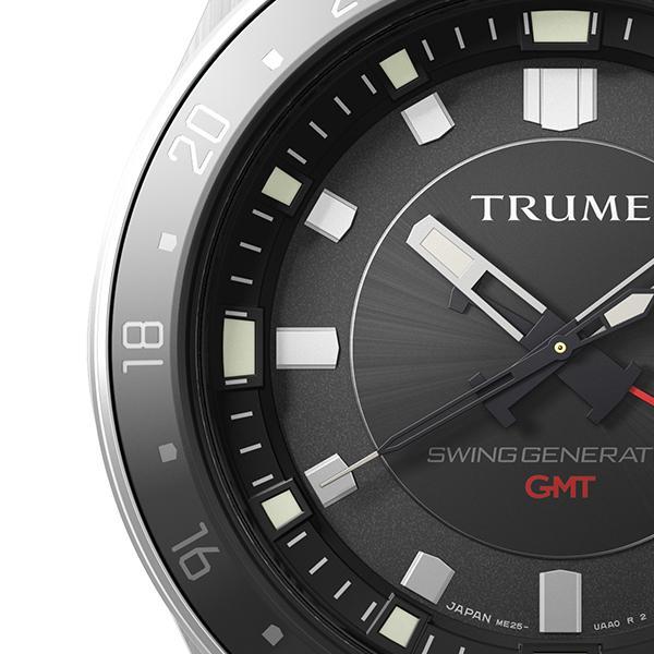 TRUME トゥルーム Lコレクション ブレークライン TR-ME2009 メンズ 腕時計 自動巻発電 GMT セラミックベゼル メタルバンド ブラック エプソン|theclockhouse-y|04