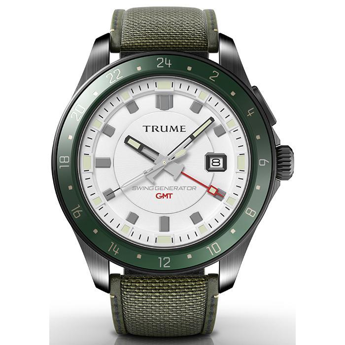 TRUME トゥルーム Lコレクション ブレークライン TR-ME2010 メンズ 腕時計 自動巻発電 GMT セラミックベゼル ナイロンバンド ホワイト theclockhouse-y 02