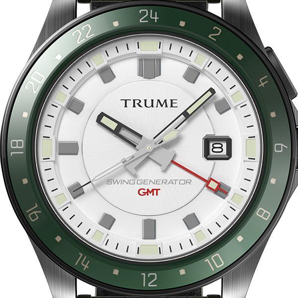TRUME トゥルーム Lコレクション ブレークライン TR-ME2010 メンズ 腕時計 自動巻発電 GMT セラミックベゼル ナイロンバンド ホワイト theclockhouse-y 03