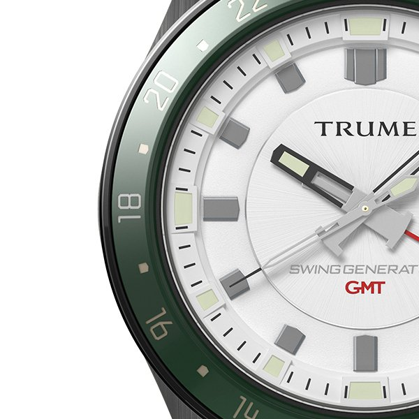 TRUME トゥルーム Lコレクション ブレークライン TR-ME2010 メンズ 腕時計 自動巻発電 GMT セラミックベゼル ナイロンバンド ホワイト theclockhouse-y 04