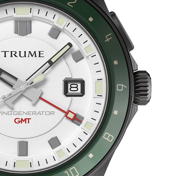 TRUME トゥルーム Lコレクション ブレークライン TR-ME2010 メンズ 腕時計 自動巻発電 GMT セラミックベゼル ナイロンバンド ホワイト theclockhouse-y 05