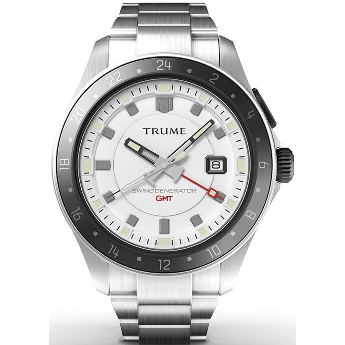 TRUME トゥルーム Lコレクション ブレークライン TR-ME2011 メンズ 腕時計 自動巻発電 GMT セラミックベゼル メタルバンド ホワイト|theclockhouse-y|02