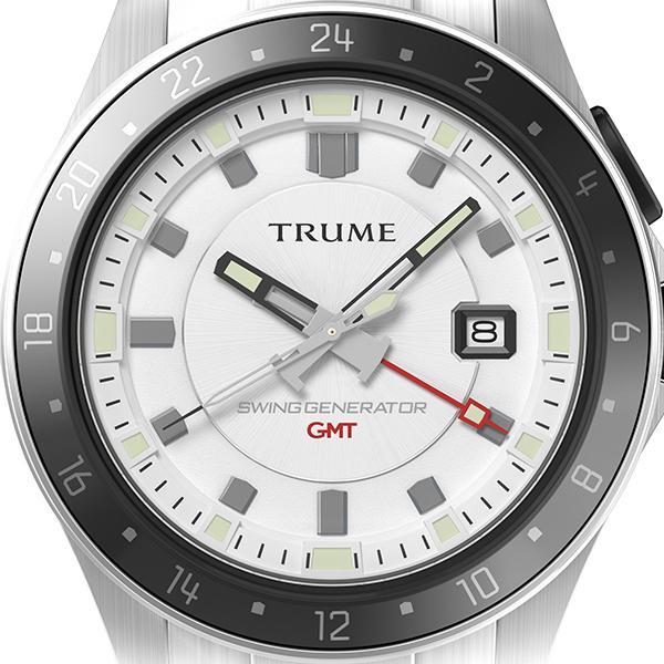 TRUME トゥルーム Lコレクション ブレークライン TR-ME2011 メンズ 腕時計 自動巻発電 GMT セラミックベゼル メタルバンド ホワイト|theclockhouse-y|03