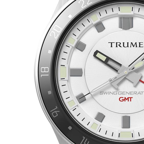 TRUME トゥルーム Lコレクション ブレークライン TR-ME2011 メンズ 腕時計 自動巻発電 GMT セラミックベゼル メタルバンド ホワイト|theclockhouse-y|04