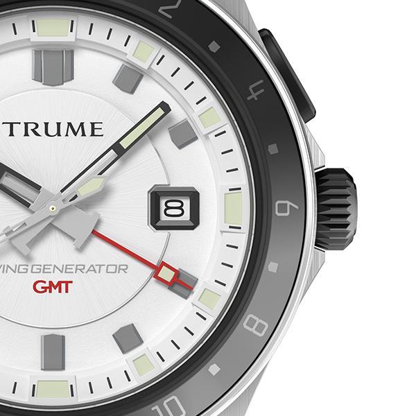 TRUME トゥルーム Lコレクション ブレークライン TR-ME2011 メンズ 腕時計 自動巻発電 GMT セラミックベゼル メタルバンド ホワイト|theclockhouse-y|05