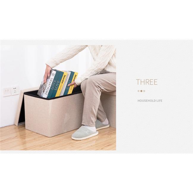 収納スツール 大容量 折りたたみ 座れる 収納ボックス 多機能 ペンチ オットマン 綿麻 布製 椅子 クッション フタ付き チェア ツールボックス thekim 12