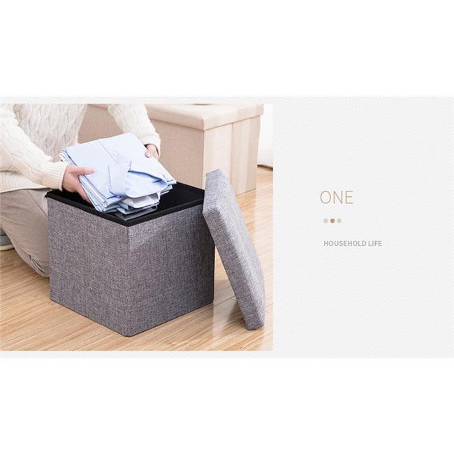 収納スツール 大容量 折りたたみ 座れる 収納ボックス 多機能 ペンチ オットマン 綿麻 布製 椅子 クッション フタ付き チェア ツールボックス thekim 10