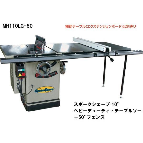 スポークシェーブ 10インチ(254mm)ヘビーデューティ・テーブルソー+50インチ(1270mm)フェンス