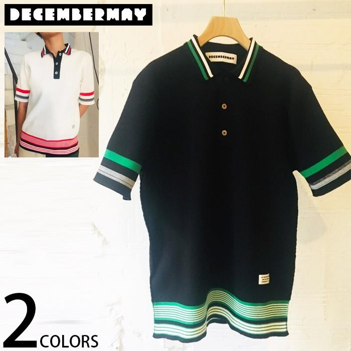 DECEMBERMAY ディセンバーメイ レディース サーマル ニット 半袖 ポロシャツ Chronicle thermalknit Polo 全2色 2サイズ展開 ゴルフ ゴルフウエア