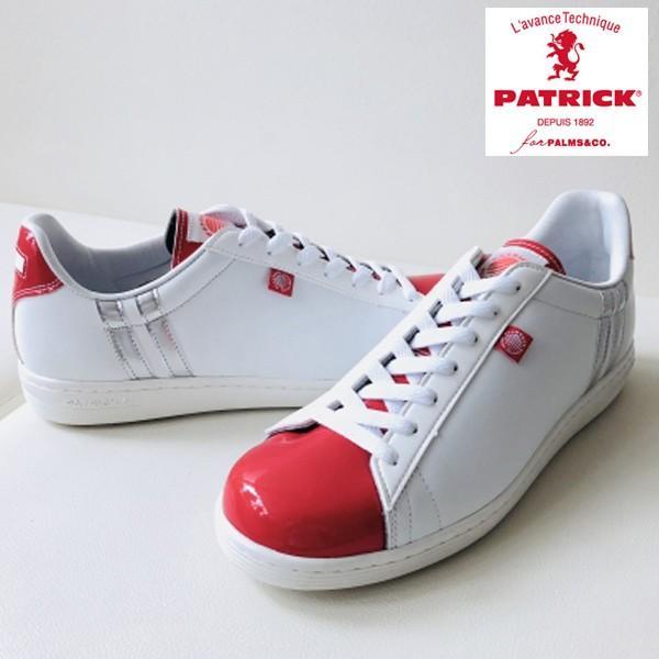 PATRIC for PALMS&CO メンズ レディース ゴルフシューズ パトリック QUEBEC ホワイト レッド 22.5cm から 28.0cm 11サイズ展開
