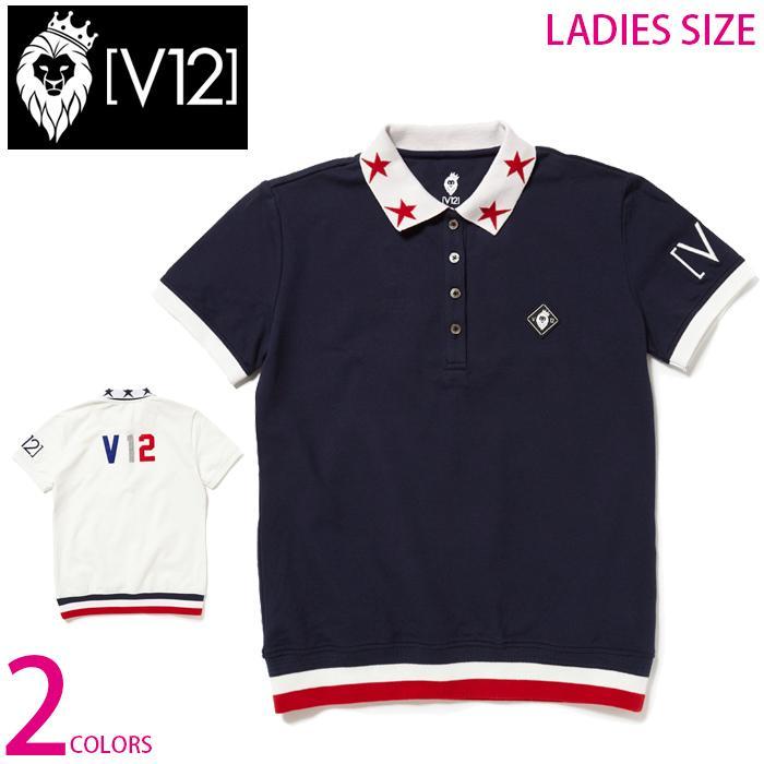 人気満点 V12 レディース トリコロールカラー リブ 切替 半袖 ポロシャツ LIB POLO WM ゴルフ ゴルフウエア 全2色 3サイズ展開, キャメリア(バッグ&ジュエリー) 89677830