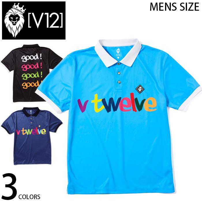 【即日発送】 V12 マルチカラープリント 半袖 ポロシャツ V12 GOOD POLO_MEN ゴルフ ゴルフウエア 全3色 4サイズ展開 V0601, サイクルショップPONY 6f03539e