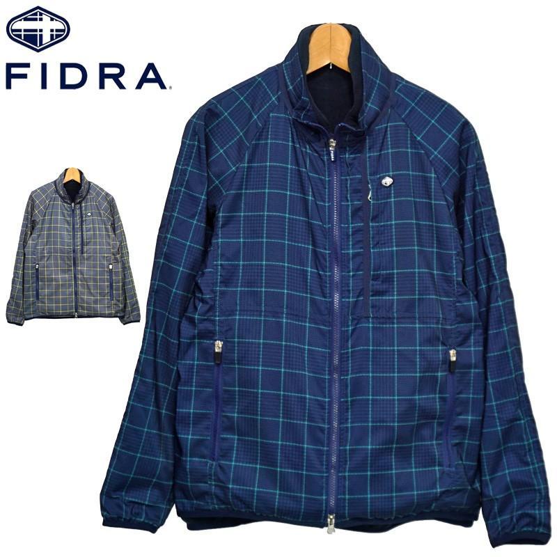 フィドラ 2019 メンズ 3WAY ジャケット FD5GTY01 チェック&千鳥柄 FIDRA 19FW ゴルフウェアトップス ブルゾン アウター NOV1 NOV2