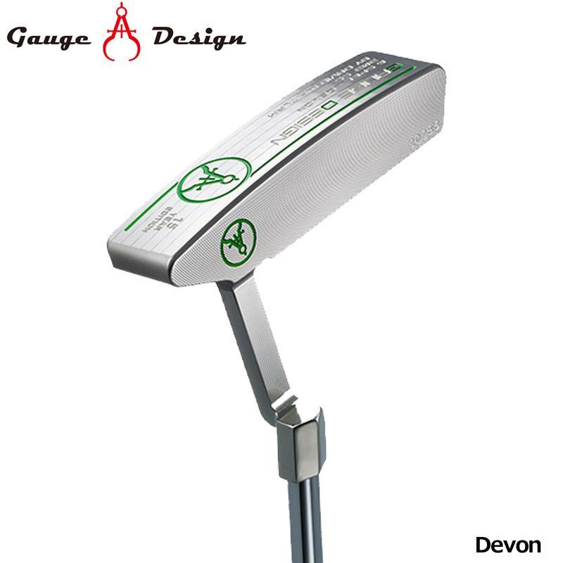 日本正規品 ゲージデザイン パター Devon オリジナルスチールシャフト装着 Gauge Design Putter PT デボンピンタイプ ゴルフクラブ