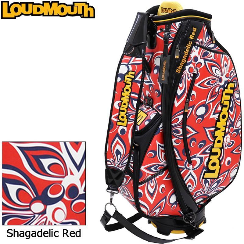日本規格 ラウドマウス 3点式 9型 キャディバッグ Shagadelic Red シャガデリックレッド LM-CB0006/(248) 779996 19FW Loudmouth ゴルフ用バッグ 派手 な NOV1