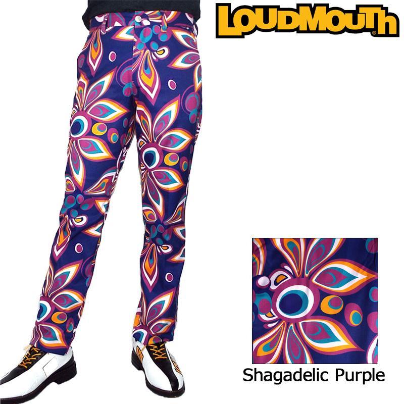 日本規格 ラウドマウス メンズ ロングパンツ (シャガデリックパープル Shagadelic 紫の) 778301(155) 18FW Loudmouth ゴルフ メンズウエア