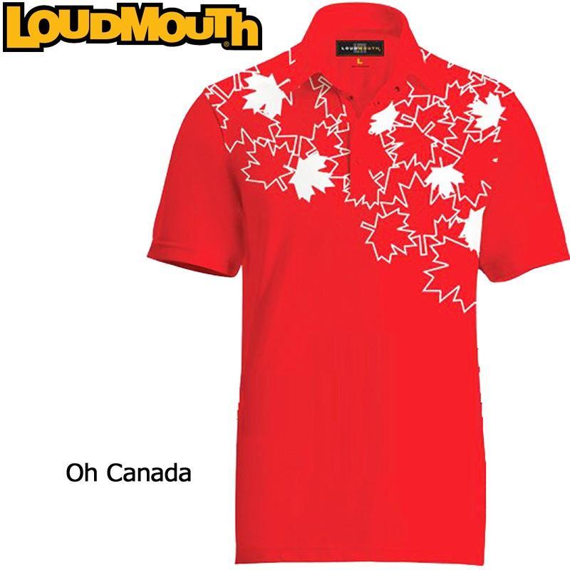 注目 メール便発送OK ラウドマウス Loudmouth ゴルフ メンズウエア 半袖 ポロシャツ ファンシーシャツ オーカナダ 新品 Fancy Polo Shirt Oh Canada, 人気アイテム 2f2f821c