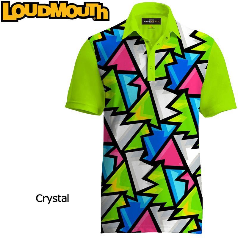 メール便可250円 ラウドマウス Loudmouth ゴルフ メンズウエア 半袖 ポロシャツ ファンシーシャツ ブロークングラス/クリスタル 新品 Fancy Polo Shirt