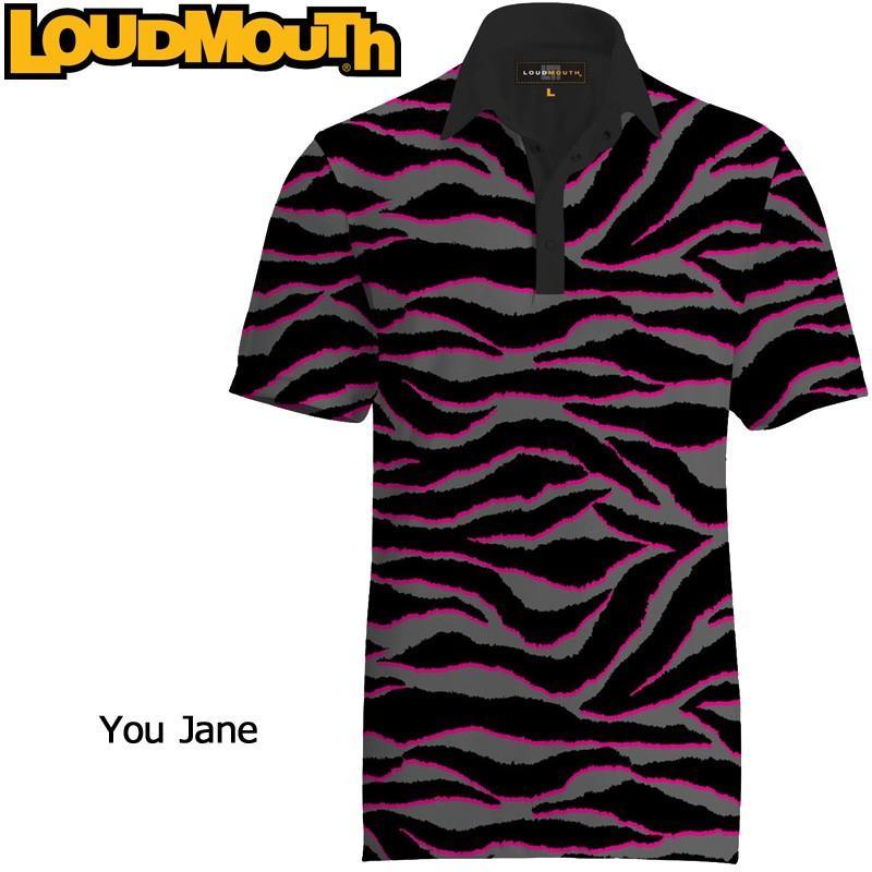 メール便送料無料 ラウドマウス Loudmouth ゴルフ メンズウエア 半袖 ポロシャツ ファンシーシャツ ユージェーン 新品 Fancy Polo Shirt You Jane