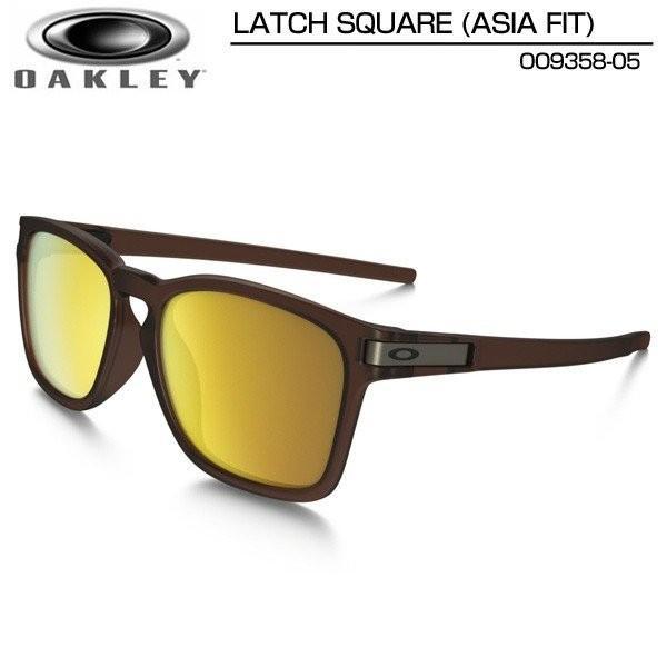 Oakley オークリー サングラス ラッチスクエア アジア フィット LATCH SQUARE ASIA FIT マットルートビア×24Kイリジウム OO9358-05 日本正規品 メンズ