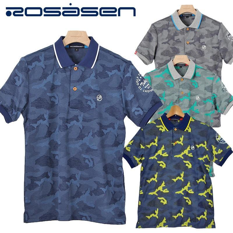 メール便送料無料 ロサーセン メンズ 半袖 ポロシャツ 044-28840 Rosasen 18FW ゴルフ メンズウエア