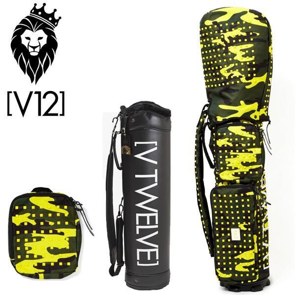 V12 ゴルフ ヴィ・トゥエルヴ キャディバッグ ラップテック 本体V121700BS02L/8.5型 カバー/Camo Studs イエローV121720-CV06L 新品 ゴルフ用バッグ